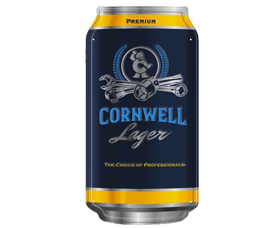 Picture of Premium Cornwell Lager Can Sign (CGPCLCS)
