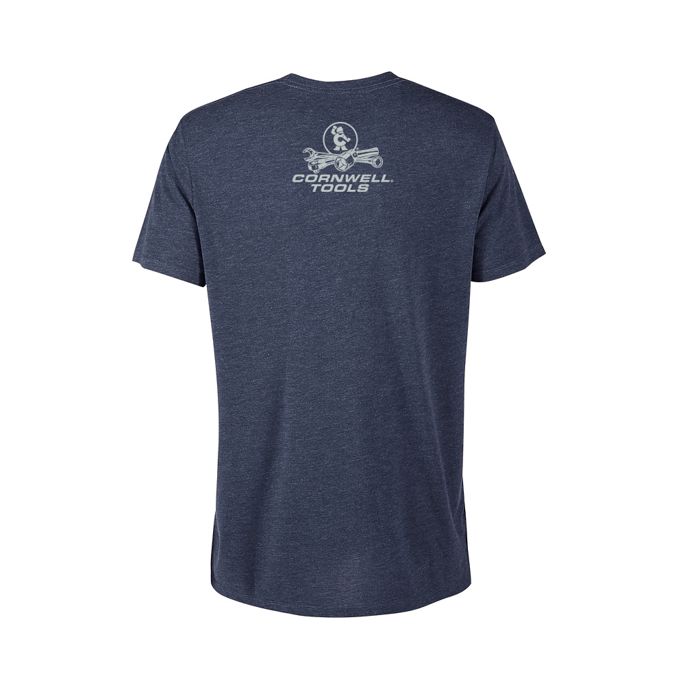 Picture of Navy Heather Flag Tee (CGNHFT)