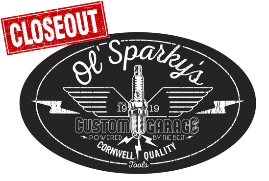 Picture of Ol' Sparky's Garage Decal 25pk (CGOSGD)