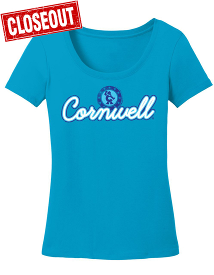 Picture of Ladies S/S Turquoise Scoop Neck T-shirt (CGSCOOP)
