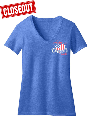 Picture of American Girl V-Neck T-shirt (CGAGT)