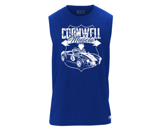 Picture of Blue Russell Athletic Muscle Shirt - CGRABMS