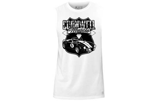 Picture of White Russell Athletic Muscle Shirt - CGRAWMS